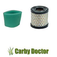 AIR FILTER & PRE-FILTER FOR BRIGGS AND STRATTON ENGINES 392308 353957 CARTRIDGE