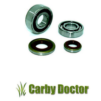PAIR OF CRANKSHAFT BEARINGS WITH OIL SEALS FOR STIHL 024 026 MS240 MS260 CHAINSAWS